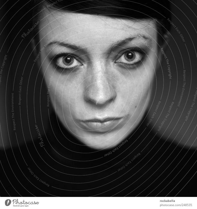 Portrait Frau feminin Junge Frau Jugendliche 1 Mensch 18-30 Jahre Erwachsene schwarzhaarig kurzhaarig beobachten ästhetisch dünn elegant schön einzigartig