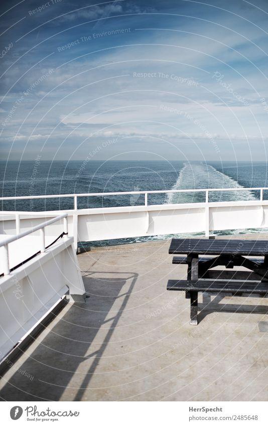 Looking back Ferien & Urlaub & Reisen Tourismus Ausflug Ferne Kreuzfahrt Sommer Sommerurlaub Verkehrsmittel Schifffahrt Passagierschiff Kreuzfahrtschiff