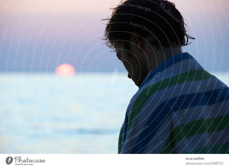 headlands sunset Mensch Natur Jugendliche Sommer Strand Ferien & Urlaub & Reisen Meer ruhig Ferne Freiheit Gefühle Landschaft Umwelt Kopf Haare & Frisuren Küste
