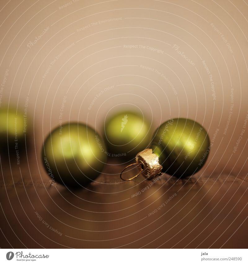 weihnachtsschmuck Weihnachten & Advent grün schön braun Feste & Feiern glänzend ästhetisch Dekoration & Verzierung Kitsch Christbaumkugel Vorfreude