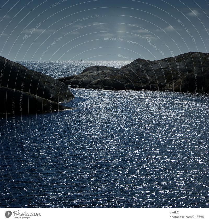 Rolling Home Himmel Natur blau schön Sommer Meer Ferien & Urlaub & Reisen Wolken Ferne Erholung Umwelt Landschaft Küste Horizont Felsen Insel
