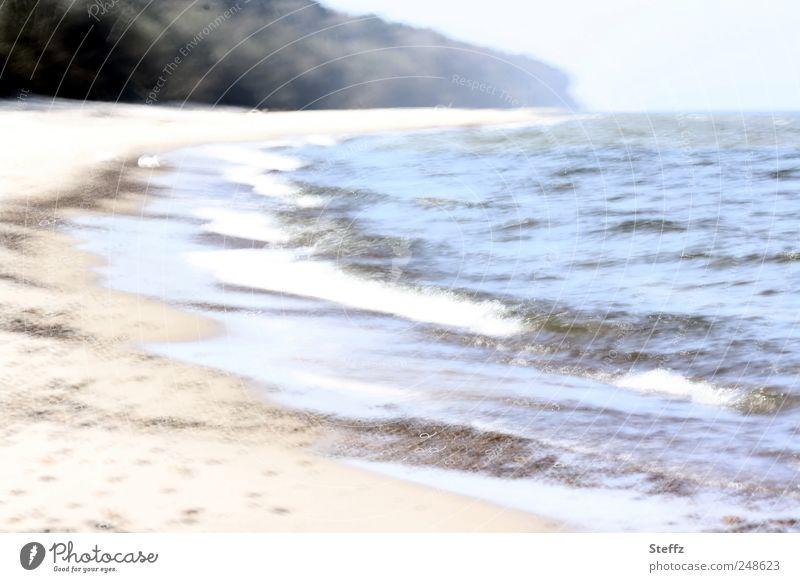 komm, wir laufen Natur Ferien & Urlaub & Reisen Meer Erholung ruhig Strand Leben Küste Freiheit Stimmung Wellen Perspektive Seeufer Bucht Ostsee Erinnerung