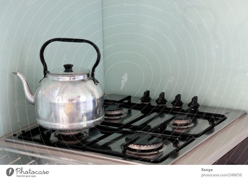 Wer macht den Kaffee? Ferien & Urlaub & Reisen schwarz Metall Glas Wohnung retro Küche Tee Frühstück silber Herd & Backofen Lebensmittel Ordnungsliebe Kessel