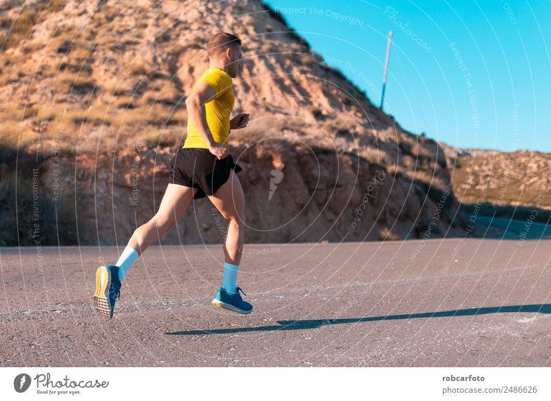 Mensch Mann Sonne weiß Erwachsene Lifestyle Sport Bewegung Park Aktion Fitness Geschwindigkeit Brücke sportlich Großstadt Läufer
