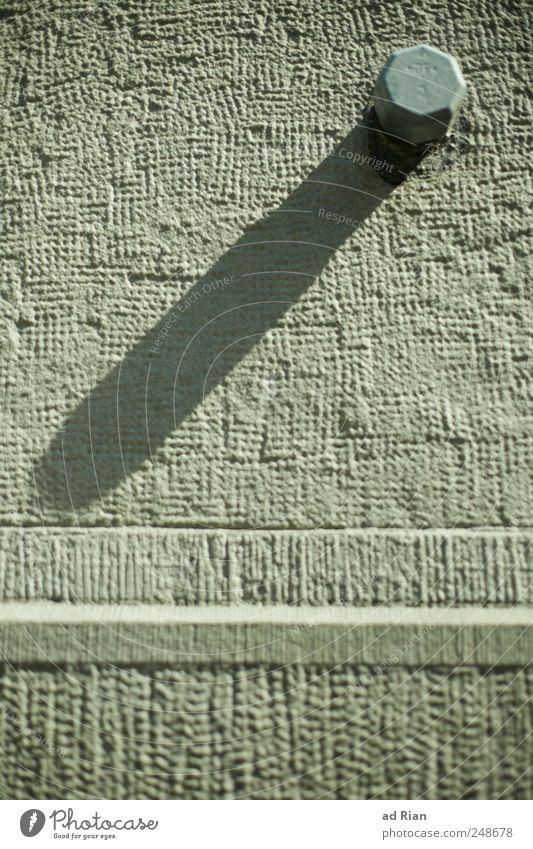 diagonal Wand Mauer hell Fassade Schraubenmutter