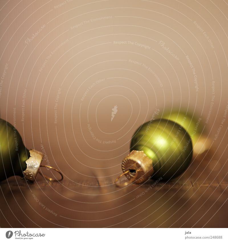 weihnachtsschmuck Dekoration & Verzierung Feste & Feiern Kitsch Krimskrams Holz ästhetisch schön braun gold grün Vorfreude Weihnachtsdekoration Christbaumkugel