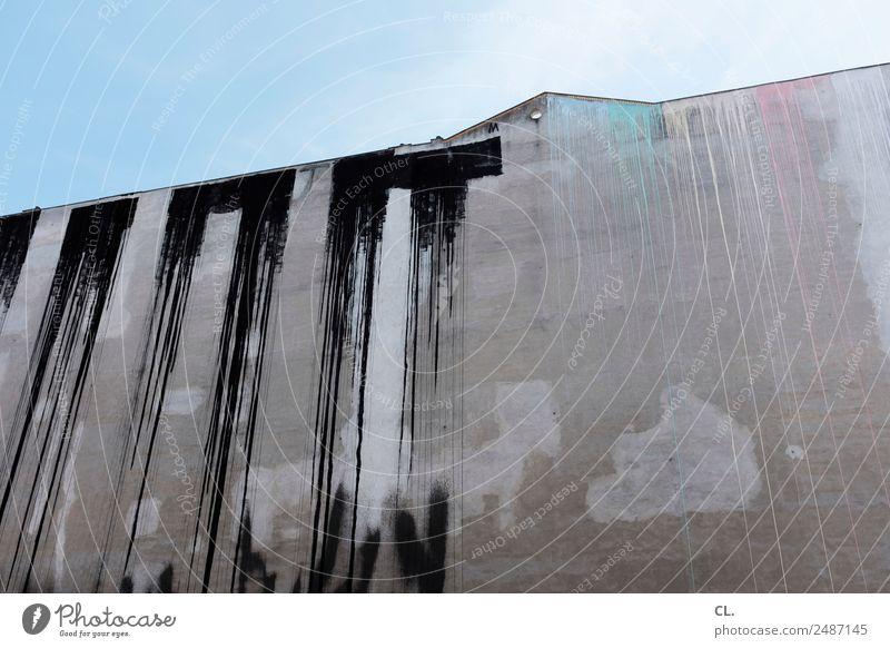 brandwand, berlin-kreuzberg Himmel alt Stadt Farbe Haus Architektur Graffiti Wand Berlin Gebäude Kunst Mauer Stadtleben dreckig Hochhaus ästhetisch