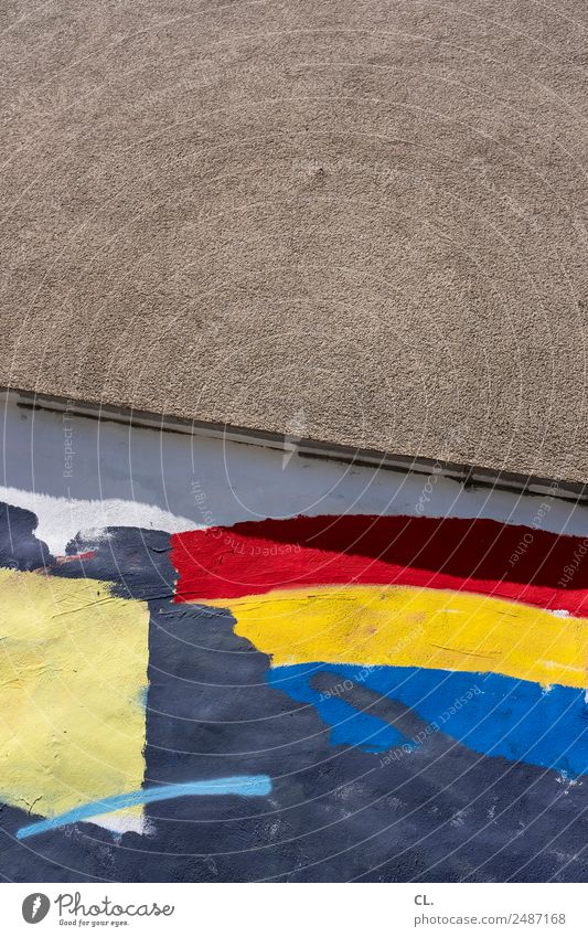 rot gelb blau Farbe Graffiti Wand Mauer Freiheit Kreativität Lebensfreude Wandel & Veränderung Zeichen Hoffnung Zusammenhalt Fahne Inspiration