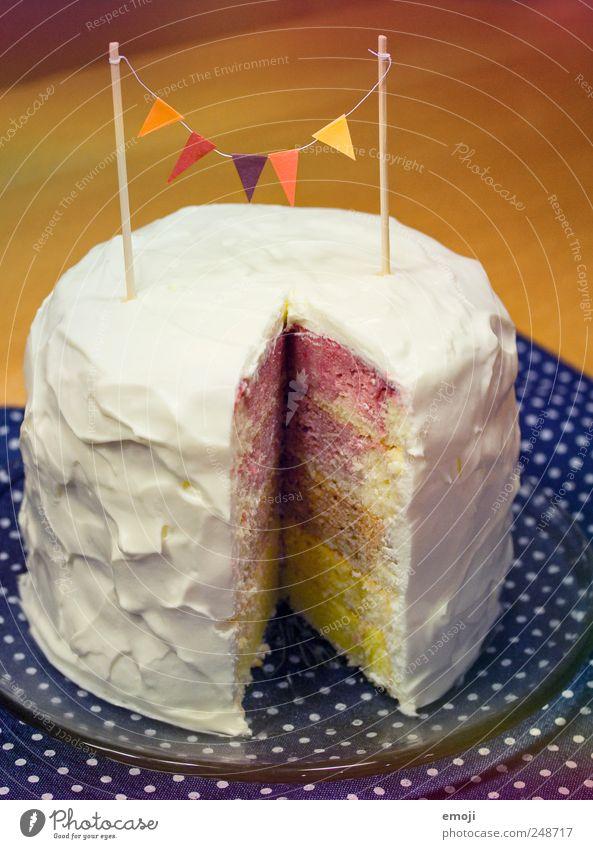 rainbow cake III Kuchen Dessert Festessen lecker regenbogenfarben Torte Geburtstag Geburtstagstorte Kindergeburtstag Fahne Sahne Sahnetorte Farbfoto mehrfarbig