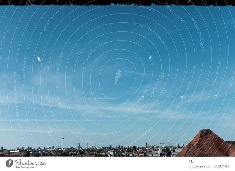 drinnen und draußen, berlin Himmel Ferien & Urlaub & Reisen Sommer Stadt Haus Fenster Berlin Gebäude Schönes Wetter Sehenswürdigkeit Skyline Wahrzeichen