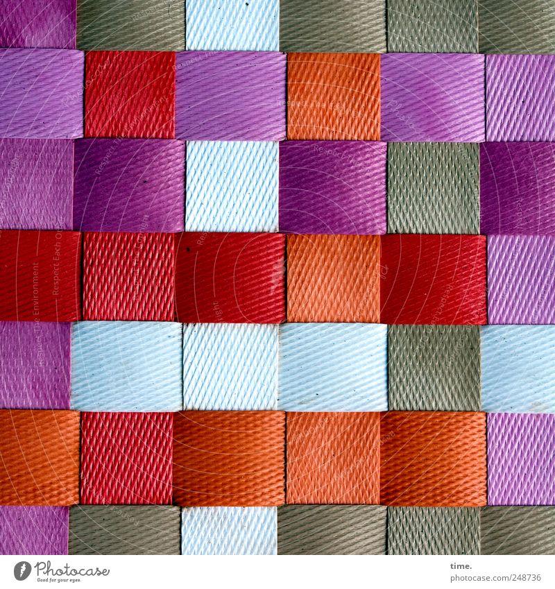 Kleinkariert weiß rot braun Ordnung Dekoration & Verzierung violett Kunststoff Quadrat parallel geflochten Matten Muster Strukturen & Formen