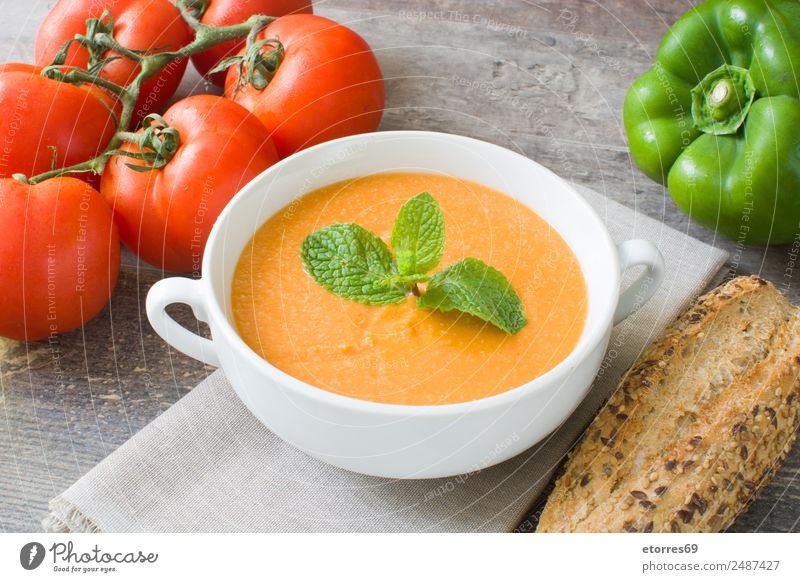 Kürbissuppe Lebensmittel Gemüse Suppe Eintopf Ernährung Bioprodukte Vegetarische Ernährung Gesundheit Gesundheitswesen Erntedankfest frisch gut grün orange rot