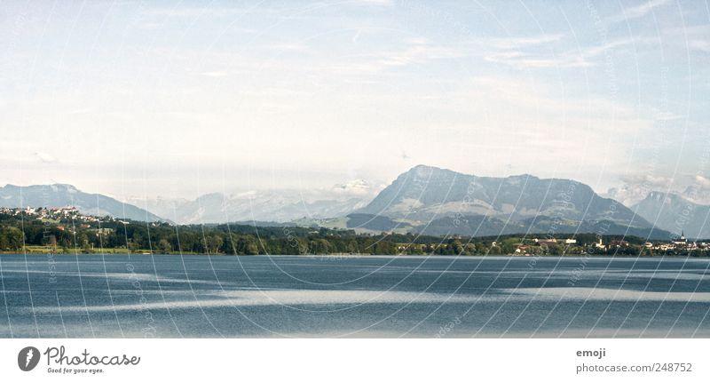 Seen und Berge Himmel Natur blau Ferne Berge u. Gebirge natürlich Schweiz Seeufer