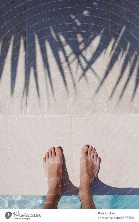 #A# Pool-Blick 1 Mensch ästhetisch Schwimmbad Hotelpool Fuß Barfuß Sommer Sommerurlaub sommerlich Wärme Ferien & Urlaub & Reisen Urlaubsfoto Urlaubsstimmung
