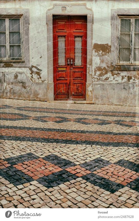rote Tür, Lagos-Algarve Ferien & Urlaub & Reisen Tourismus Ausflug Haus Kunst Architektur Dorf Kleinstadt Stadt Gebäude Fassade Straße alt schön einzigartig