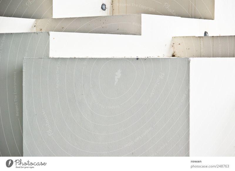 kubisch weiß Wand Architektur Mauer Treppe Bauwerk Stapel Würfel Monochrom