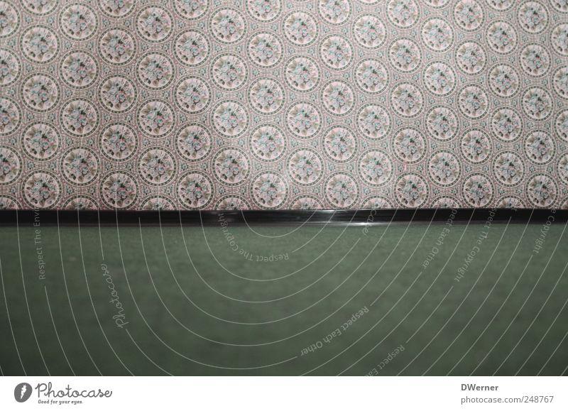 60er Jahre alt grün schön Leben Wand Kunst braun Design Bodenbelag Häusliches Leben Dekoration & Verzierung Sauberkeit Zeichen Tapete historisch Nostalgie