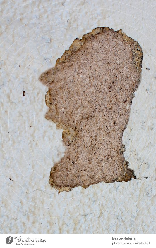 Sir Dexter schön Wand Mauer grau außergewöhnlich Denken Kopf Stein Fassade maskulin ästhetisch Kreativität beobachten kaputt Leidenschaft positiv