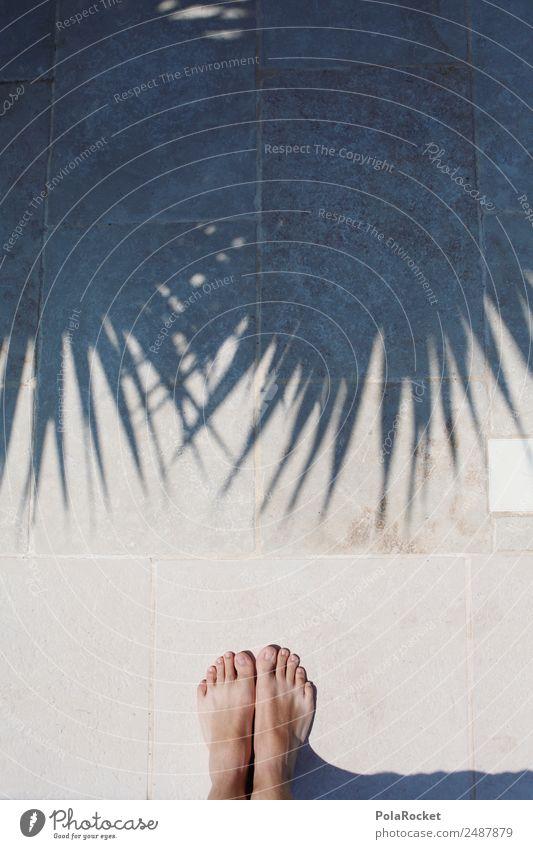 #A# Urlaubsfüße Ferien & Urlaub & Reisen Sommer Sonne Erholung Kunst frei ästhetisch Sommerurlaub Fernweh Palme Kunstwerk sommerlich Schattenspiel Urlaubsfoto