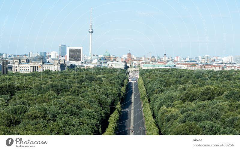 Berlin Skyline, Panorama mit Tiergarten Natur Baum Haus Ferne Straße Architektur Stil Tourismus Freiheit Ausflug Büro Park Verkehr träumen Hochhaus