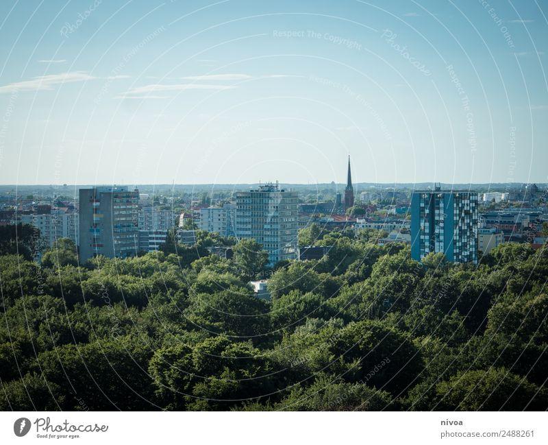 Skyline Berlin, Panorama mit Tiergarten Ferien & Urlaub & Reisen Baum Haus ruhig Ferne Architektur Leben Umwelt Tourismus Freiheit Fassade Ausflug Park Verkehr