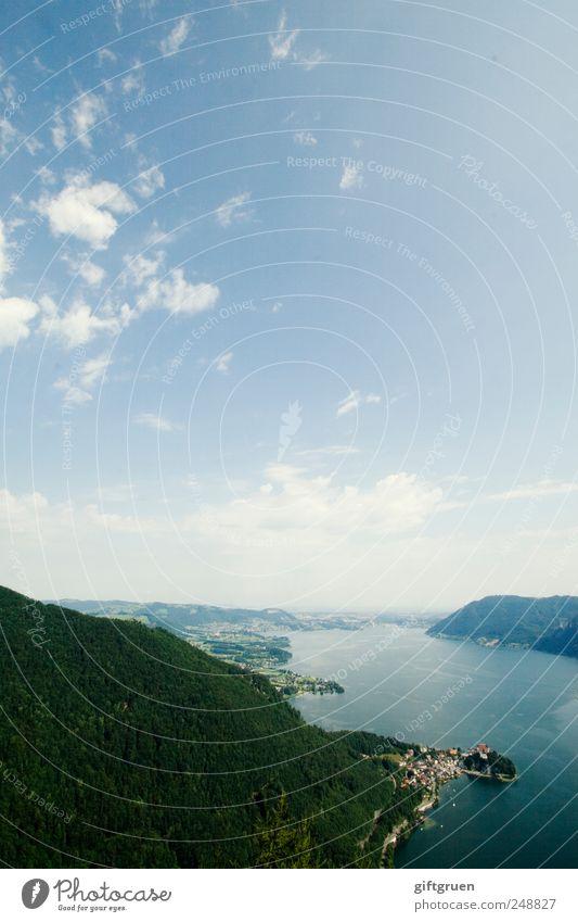 im salzkammergut... Himmel Natur Wasser Baum Pflanze Sommer Wolken Wald Berge u. Gebirge Landschaft Umwelt See hoch Perspektive Urelemente Hügel