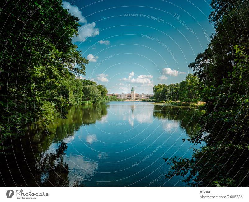 Schloss Charlottenburg Berlin an der Spree Spandauer Damm elegant Stil Design Umwelt Natur Landschaft Pflanze Himmel Wolken Sommer Klima Schönes Wetter Baum