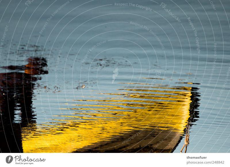 yellow submarine Mensch Himmel Wasser blau Sommer Meer ruhig gelb Erwachsene träumen Arbeit & Erwerbstätigkeit glänzend frisch maskulin fahren Flüssigkeit