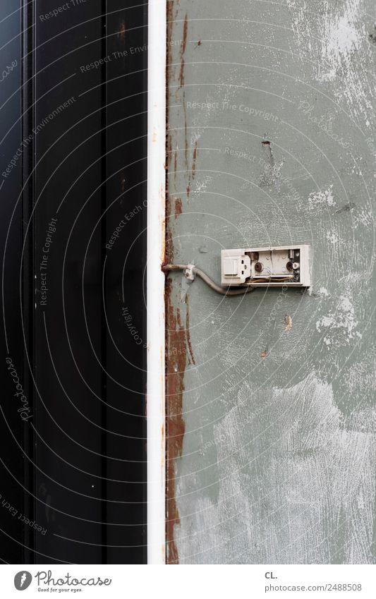 leerstand, gelsenkirchen alt Haus Einsamkeit Wand Mauer Häusliches Leben Tür dreckig Kommunizieren kaputt Wandel & Veränderung Sicherheit Kontakt