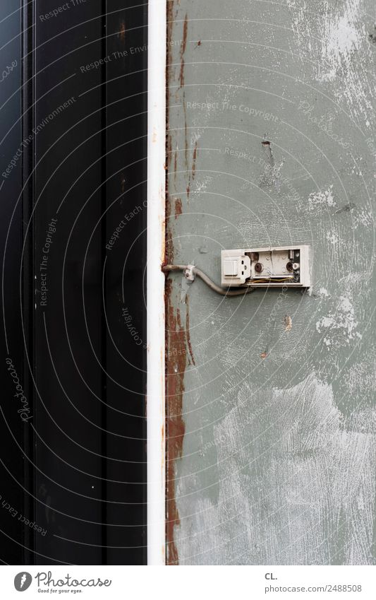 leerstand, gelsenkirchen Menschenleer Haus Mauer Wand Tür Klingel alt dreckig kaputt Einsamkeit Kommunizieren Kontakt Krise Sicherheit stagnierend