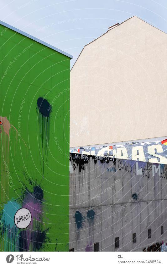 berlin-kreuzberg Ferien & Urlaub & Reisen Stadt Farbe Haus Architektur Graffiti Wand Berlin Gebäude Tourismus Mauer Schriftzeichen dreckig Kreativität