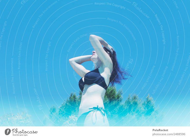 #A# day by the pool Frau Mensch Ferien & Urlaub & Reisen Sommer blau Erotik Erholung Wärme Schwimmen & Baden retro ästhetisch Sommerurlaub Schwimmbad heiß Model