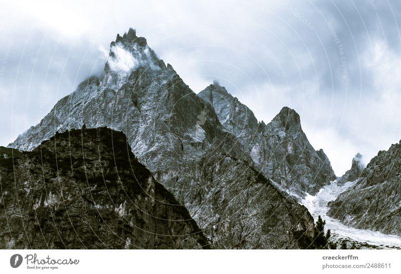 Dolomiten Natur Ferien & Urlaub & Reisen Sommer blau Landschaft Wolken Berge u. Gebirge kalt Tourismus Freiheit grau Felsen wandern ästhetisch Abenteuer
