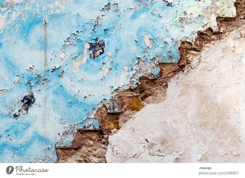 : / alt blau Farbe Wand Stil Mauer Treppe Lifestyle kaputt einzigartig Zeichen