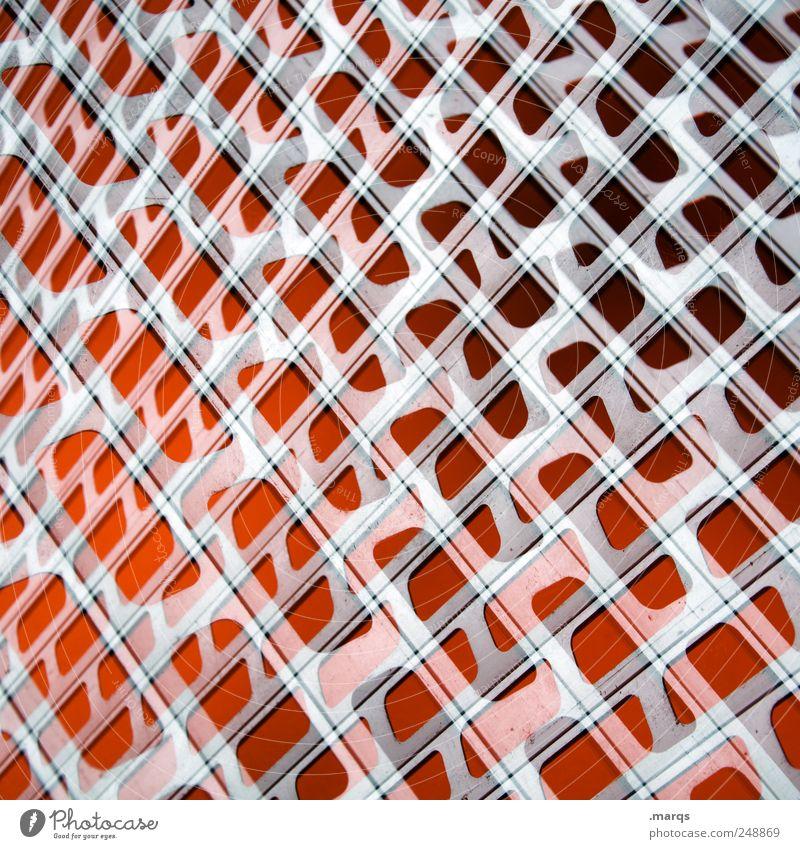 Red Alert Stil Design Gitter Metall außergewöhnlich einzigartig rot chaotisch Farbe Surrealismus Farbfoto Nahaufnahme Experiment abstrakt Muster