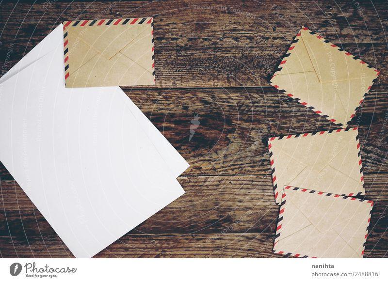 Vintage-Papierumschläge, Papier- und Holzstruktur Stil Design Freizeit & Hobby sprechen Kultur Briefumschlag Post altehrwürdig authentisch einfach Billig retro