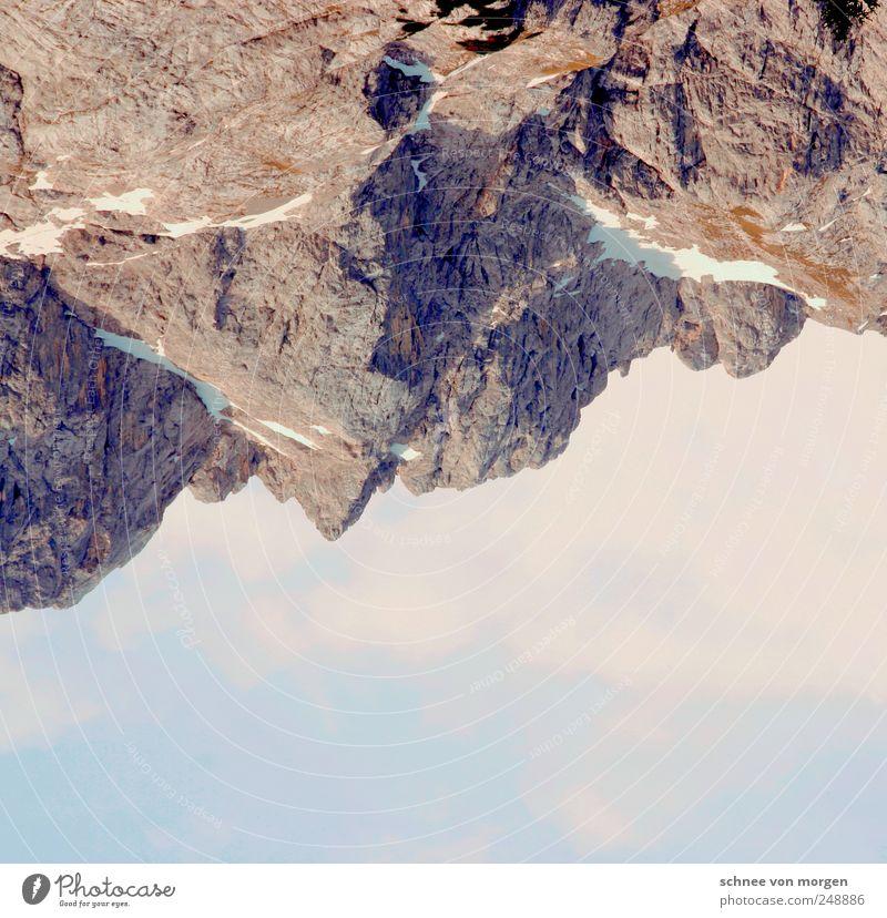 """wolkenverhangen Landschaft Himmel Wolken Schönes Wetter Felsen Alpen Berge u. Gebirge Gipfel Schneebedeckte Gipfel Ferne """"schnee klettern bergsteigen stein grau"""