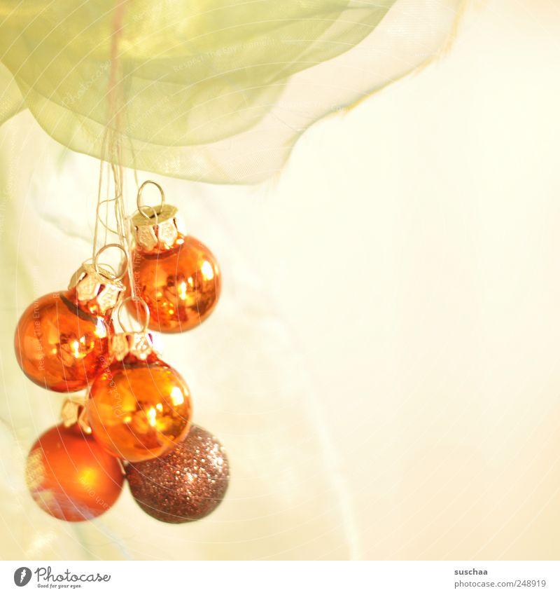 pling pling Weihnachten & Advent rot hell Feste & Feiern Stoff hängen durchsichtig aufhängen