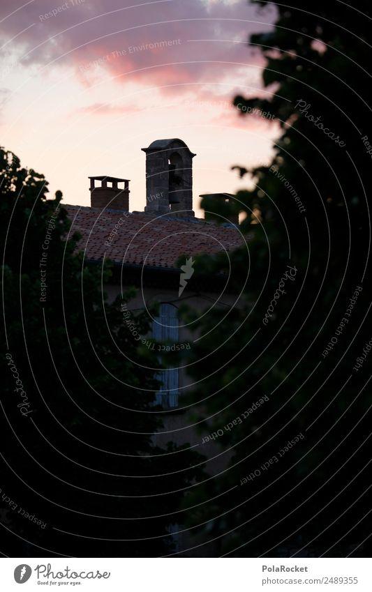 #A# Abend-Rosa Himmel Himmel (Jenseits) rosa Schönes Wetter Romantik Klima Frankreich Kitsch himmelwärts Provence