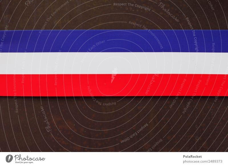 #A# France Kunst ästhetisch Frankreich Französisch Franzosen Tricolore blau rot weiß Fahne Weltmeisterschaft Streifen Farbe Farbfoto mehrfarbig Nahaufnahme