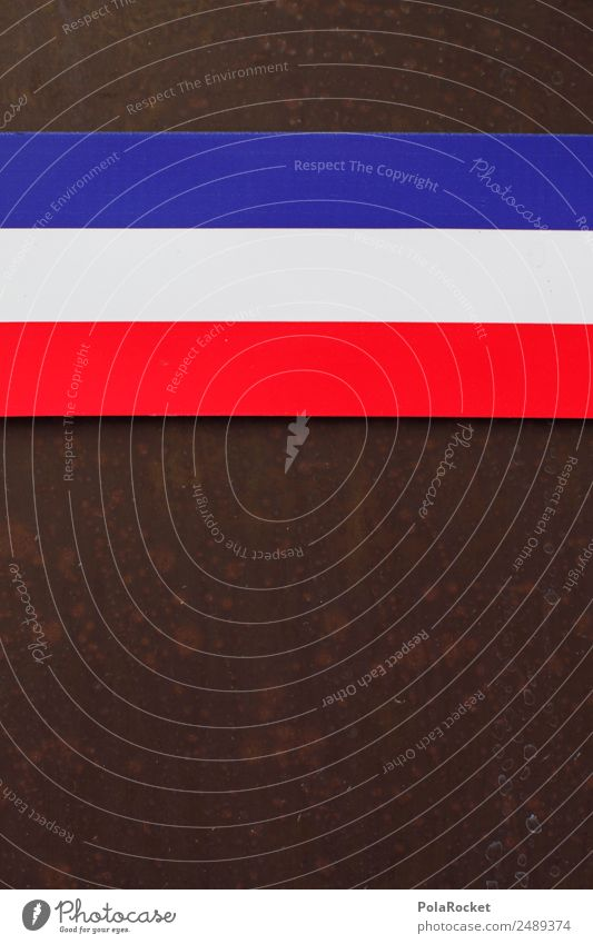 #A# tricolore blau weiß rot Kunst Europa ästhetisch 3 Streifen Frankreich Fahne Kunstwerk gestreift Tricolore
