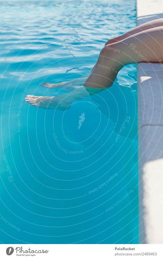#A# Kalte Füße Wasser Schönes Wetter ästhetisch Schwimmbad Hotelpool Wasseroberfläche Fuß Kühlung Sommer Sommerurlaub sommerlich Ferien & Urlaub & Reisen