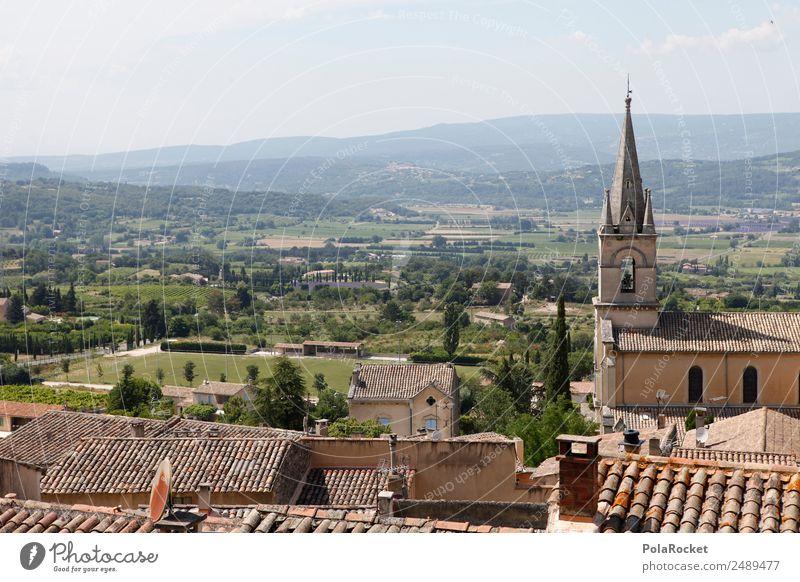 #A# Französische Dächer Dorf Kleinstadt Stadt Altstadt Haus ästhetisch Dach Frankreich Provence Bonnieux mediterran Farbfoto mehrfarbig Außenaufnahme