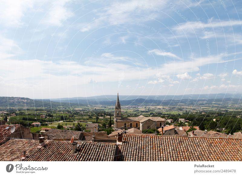 #A# Dächer von Bonnieux Landschaft Klima Frankreich Ferne Provence Dorf Dach Ferien & Urlaub & Reisen Urlaubsfoto Urlaubsstimmung Urlaubsort Fernweh Kleinstadt