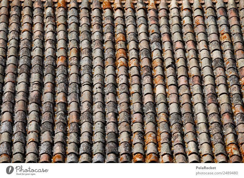 #A# Viel Dach Kunst Kunstwerk anstrengen Dachziegel viele mediterran Frankreich Provence ziegelrot Muster Reihe Ordnung Ordnungsliebe Farbfoto Gedeckte Farben