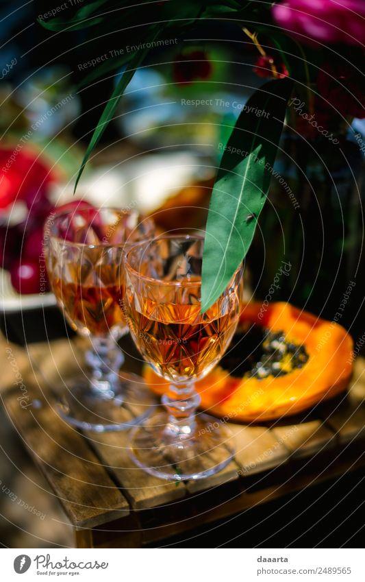 Sommerobst Lebensmittel Frucht Süßwaren Getränk Wein Sekt Prosecco Glas Stil Design Freude harmonisch Freizeit & Hobby Ferien & Urlaub & Reisen Ausflug