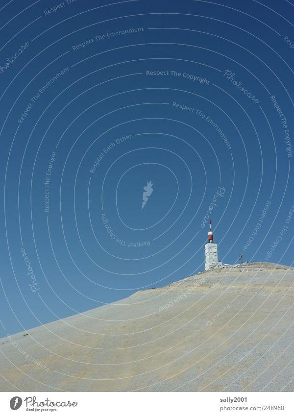 Tour de France - Bergankunft Natur weiß Sommer Einsamkeit ruhig Landschaft Berge u. Gebirge Freiheit außergewöhnlich Tourismus ästhetisch einzigartig Klettern Alpen Schönes Wetter Gipfel