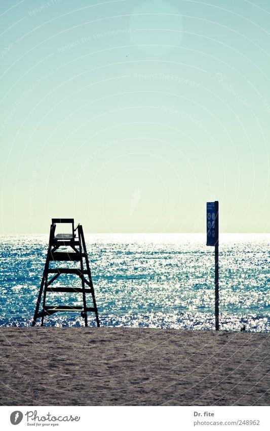 Pack die Badehose ein blau Sommer Ferien & Urlaub & Reisen Meer Freude Strand Erholung Freiheit Küste Wellen Freizeit & Hobby nass Schwimmen & Baden Europa