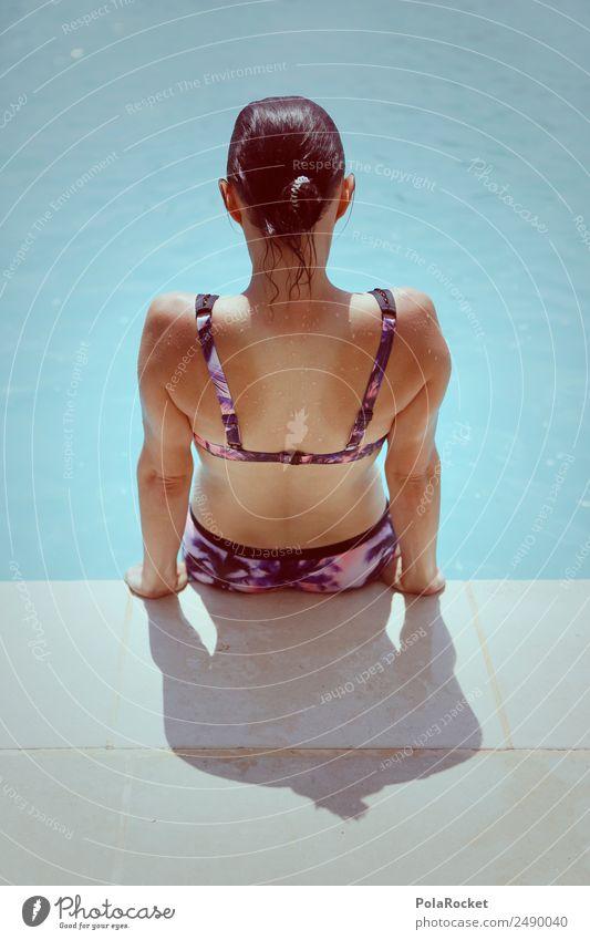 #A# Pool-Feeling Frau Mensch Ferien & Urlaub & Reisen Jugendliche Junge Frau Sommer Schwimmen & Baden ästhetisch Sommerurlaub Schwimmbad Bikini sommerlich