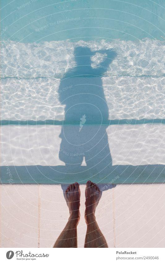 #A# Selfie Ferien & Urlaub & Reisen Wasser Kunst ästhetisch Idylle Fotografie Schwimmbad selbstbewußt Barfuß Kunstwerk friedlich Wasseroberfläche